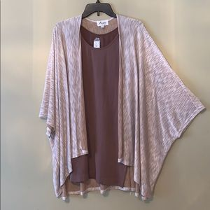 Set of Open Front Cardigan and Matching Tunic Tank